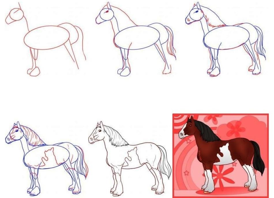 лысая рисунки коней карандашом легко и красиво поэтапно сима дружил
