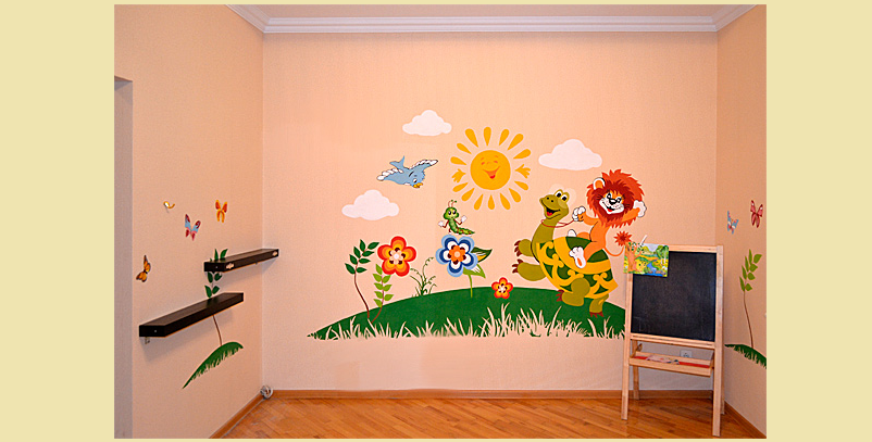 Красивое украшение стены в детском саду своими руками