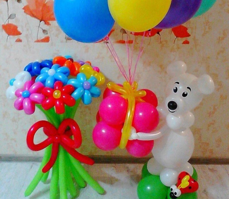 Цветочная композиция из воздушных шаров