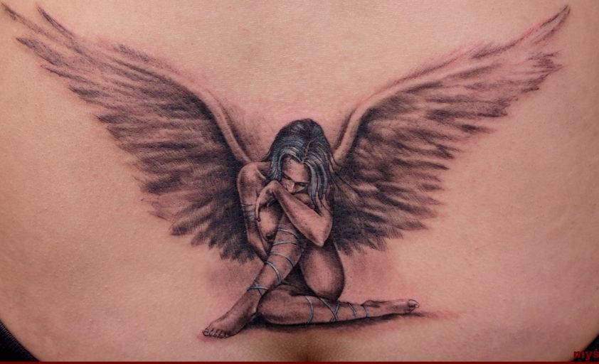 Картинки ангелов хранителей девушек тату