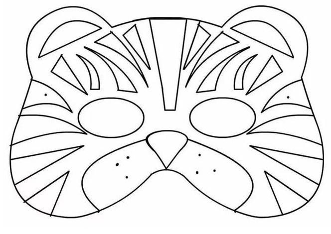 Картинки масок из бумаги распечатать