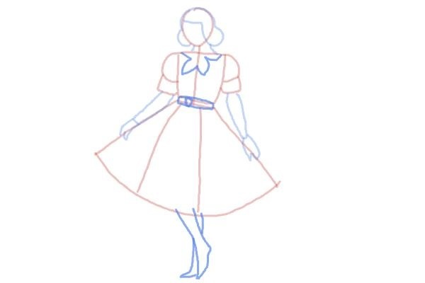 prostoi-risunok-zhenshini-v-odezhde-shag-6 Как нарисовать женское тело карандашом поэтапно || Как нарисовать женскую грудь мастер с описанием