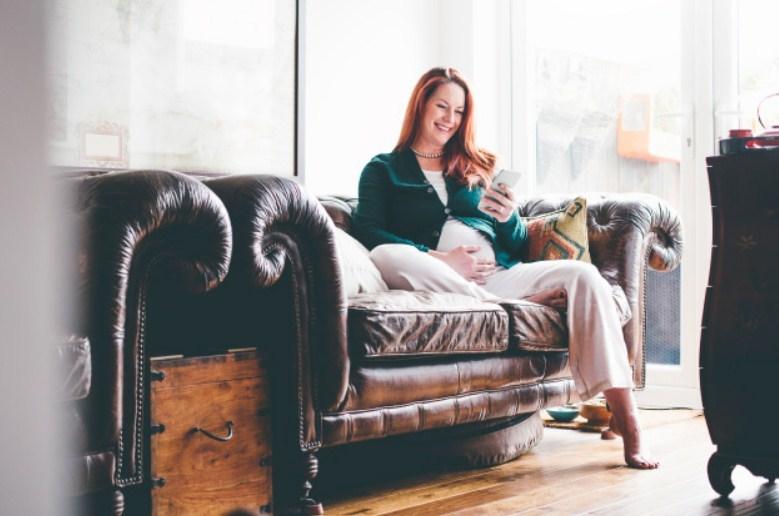 Беременность протекает спокойно
