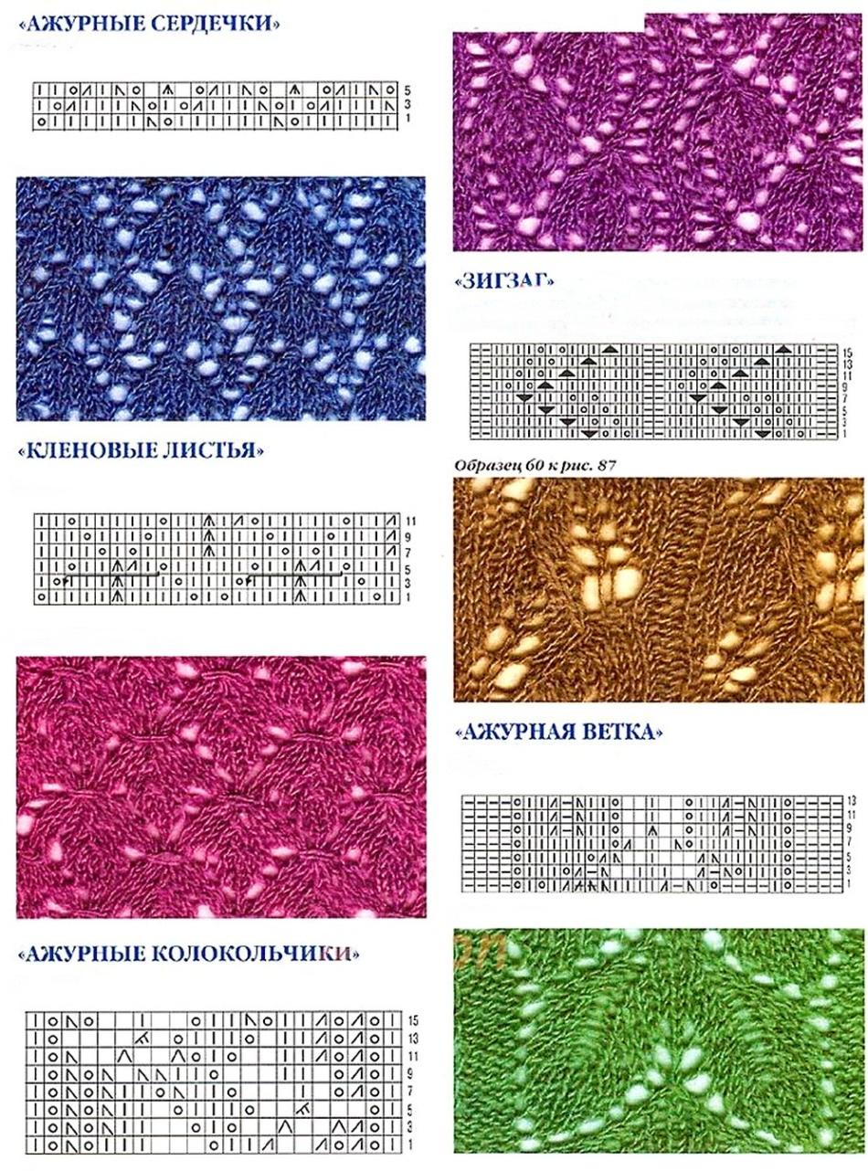 картинки и описание вязания ажурных узоров спицами очень забавная серия