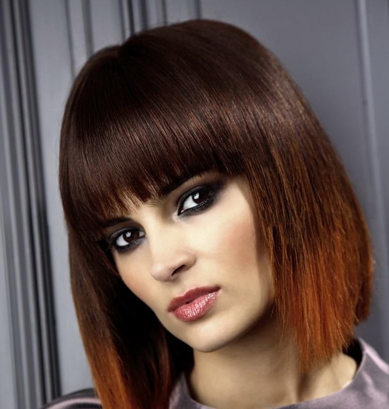 myagkii-perehod-cveta-na-strizhke-quotkarequot Омбре на короткие волосы: варианты окрашивания, фото. Омбре окрашивание на темные короткие волосы и блонд в домашних условиях: фото