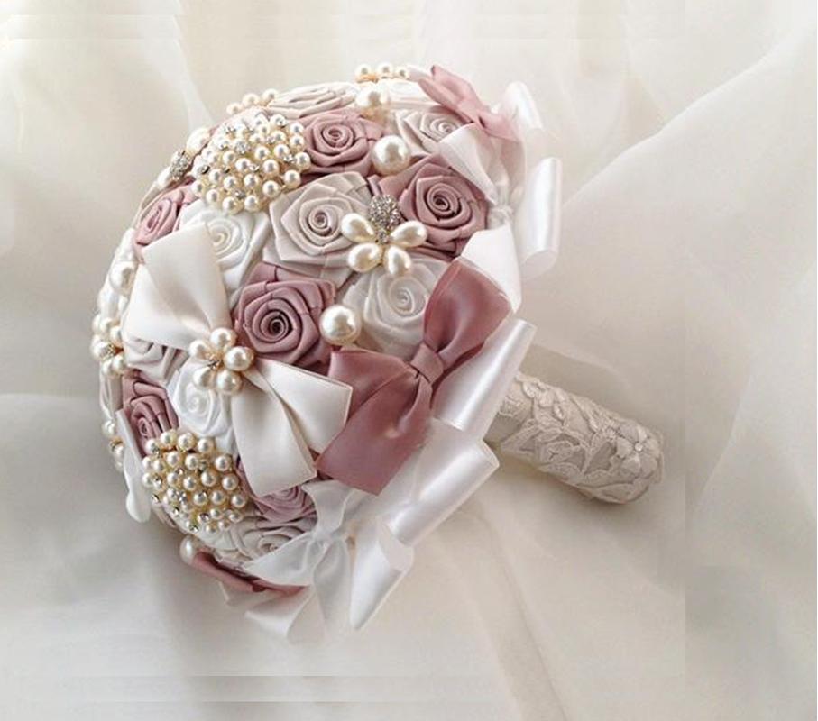 Эксклюзивные букеты для свадьбы своими руками, цветы