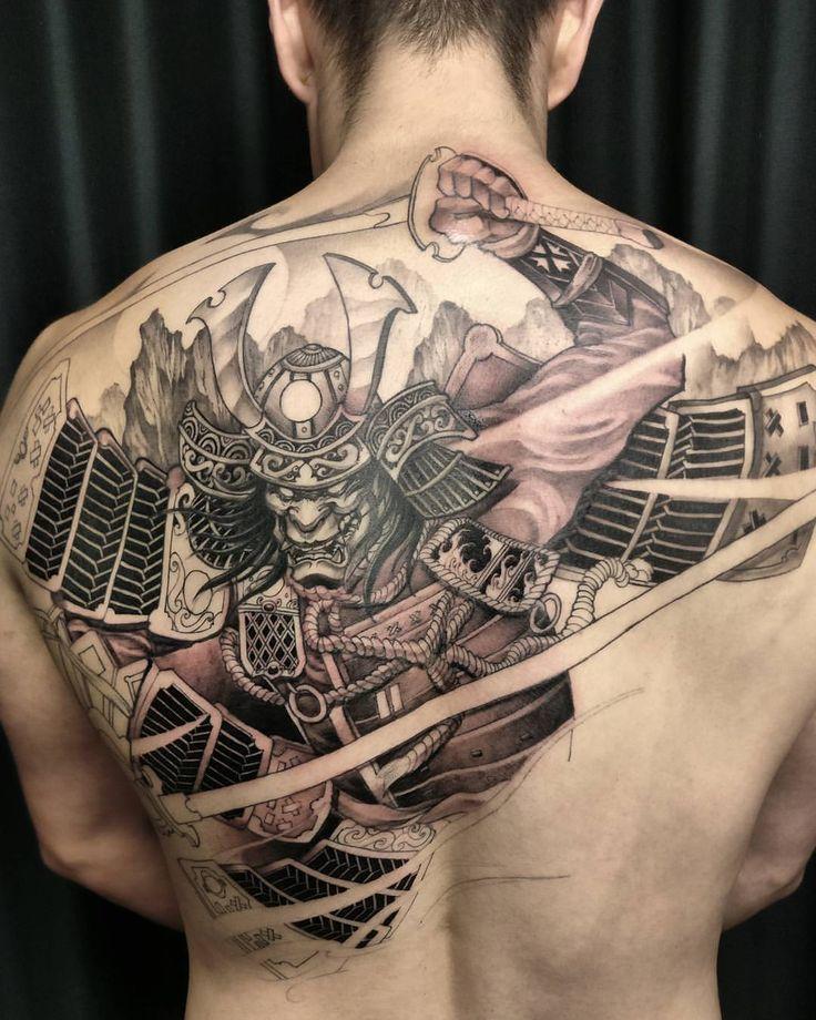 это фото татуировок с самураями для девочки медведь