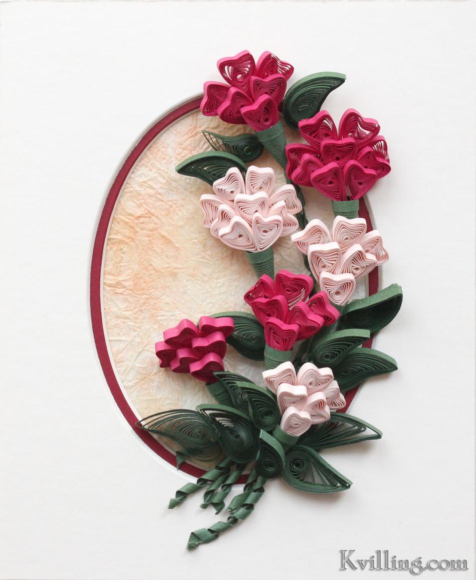 Белый цветок из квиллинга
