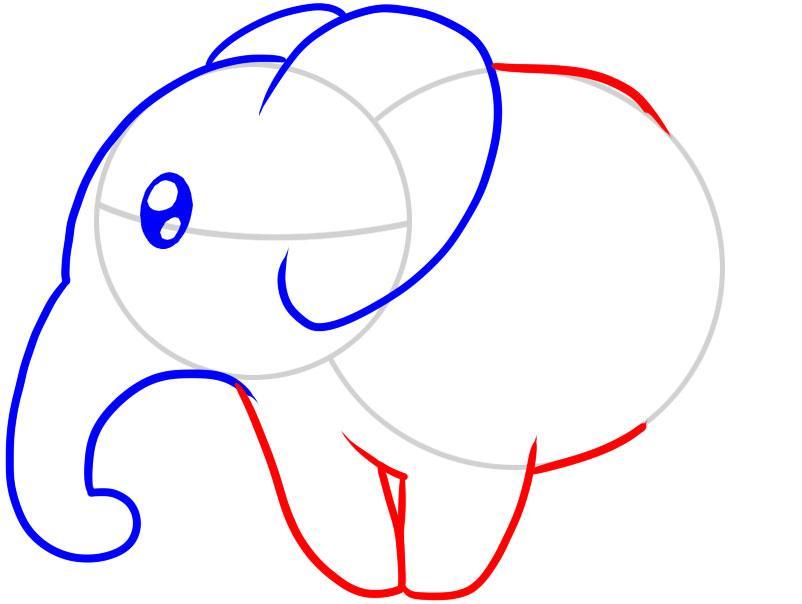 kak-narisovat-slona-karandashom-dlya-detei-i-nachinayushih-risuem-telo-zhivotnogo Как нарисовать слона поэтапно: 5 вариантов как легко и просто нарисовать слона карандашом