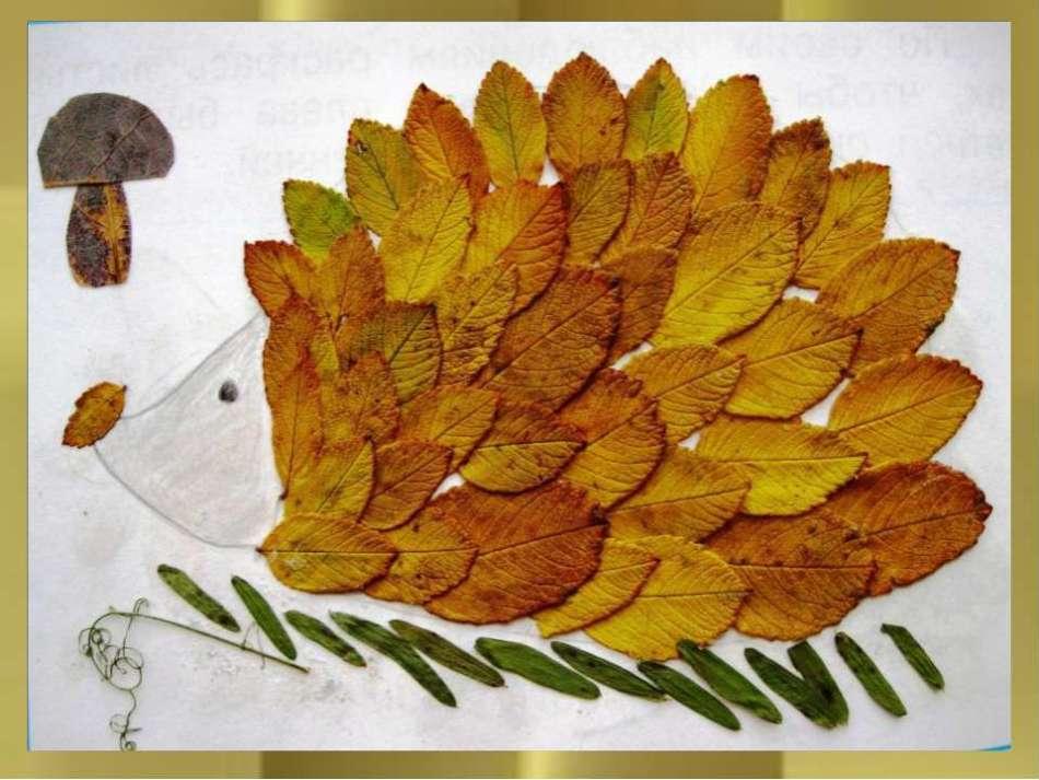 """osennyaya-podelka Аппликация из крупы для детей на тему """"Осень"""": мастер-класс с фото"""
