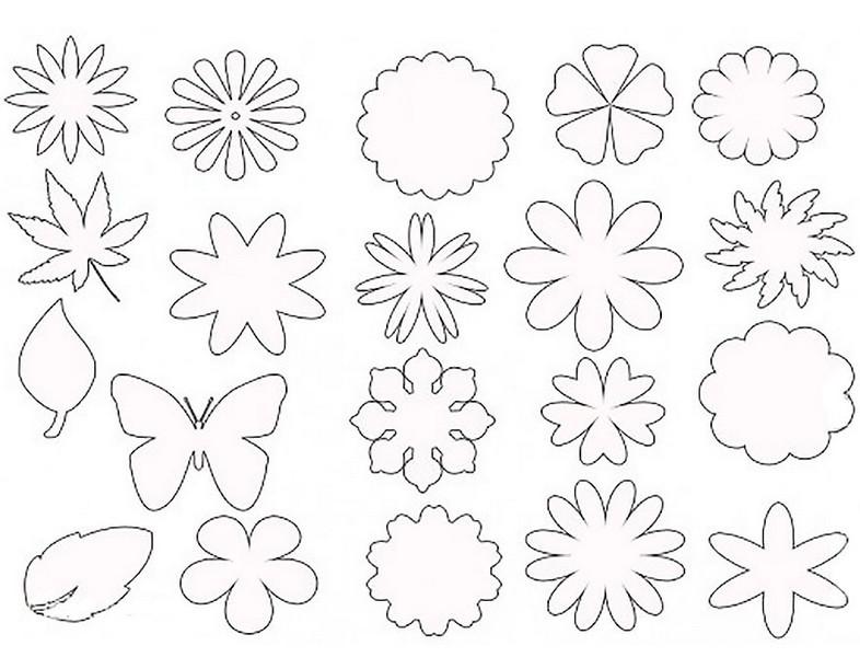 Шаблоны к цветочкам к открытками, поздравления