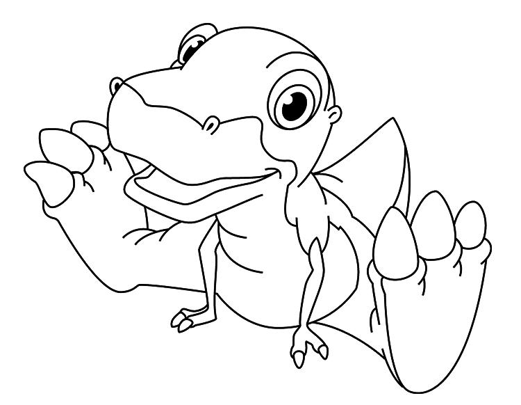 Динозавр тирекс карандашом, шаг 6