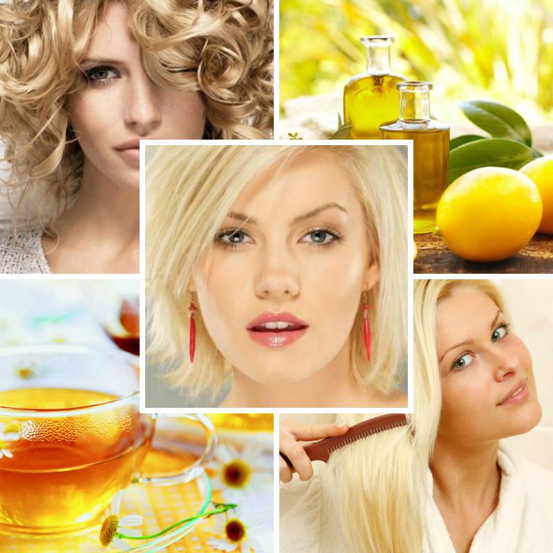 Коллаж ромашка, лимон, блондинки
