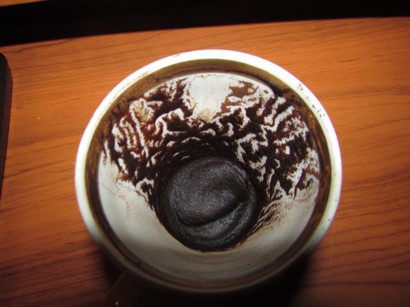 Узор на стенке чашки