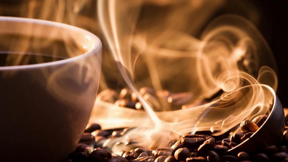 Чашка кофе с дымком
