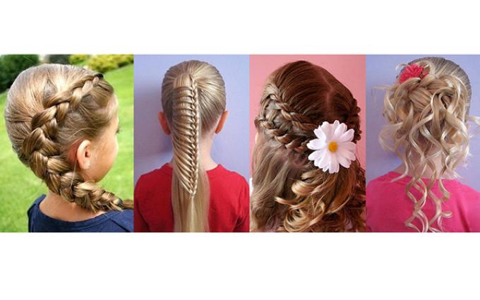 kak-zaplesti-rebenka-na-1-sentyabrya Как сделать банты из лент для волос своими руками. Мастер классы бантов для школы пошаговая инструкция с фото.