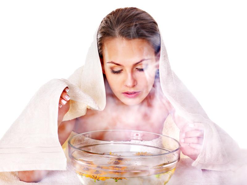 Третий этап - распаривание пор ванночкой