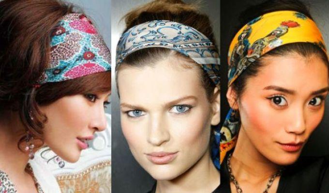 uzelok Как красиво завязать на голову шарф разными способами? Как красиво и стильно завязать шарф на голове летом, с пальто, мусульманке?