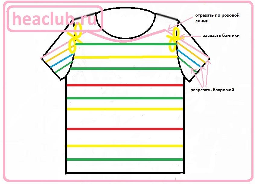 Схема как переделать старую одежду в новую