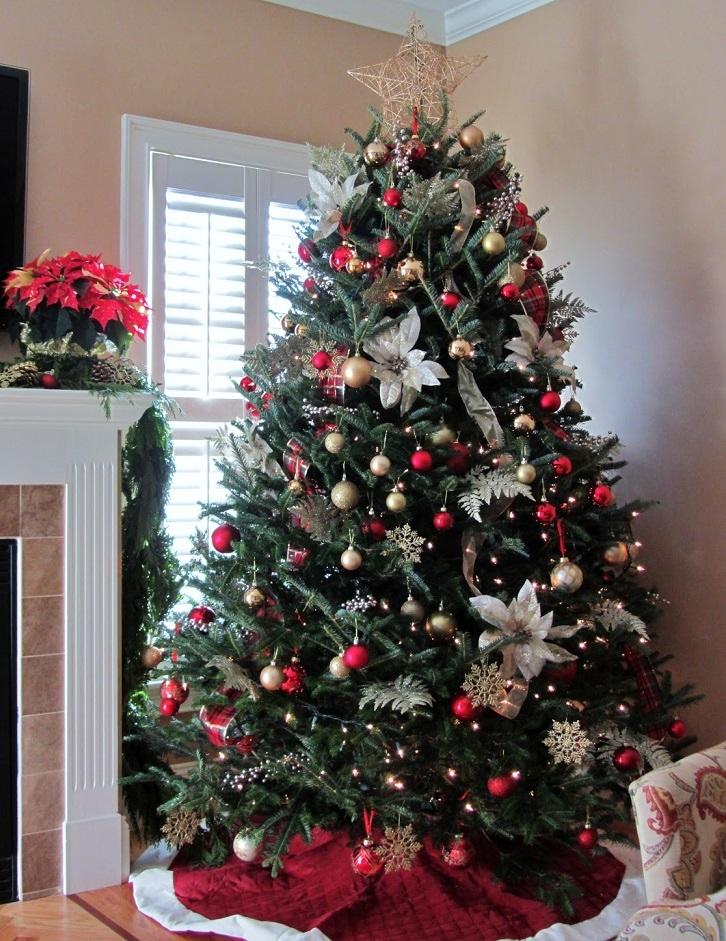 красивое украшение новогодней елки фото