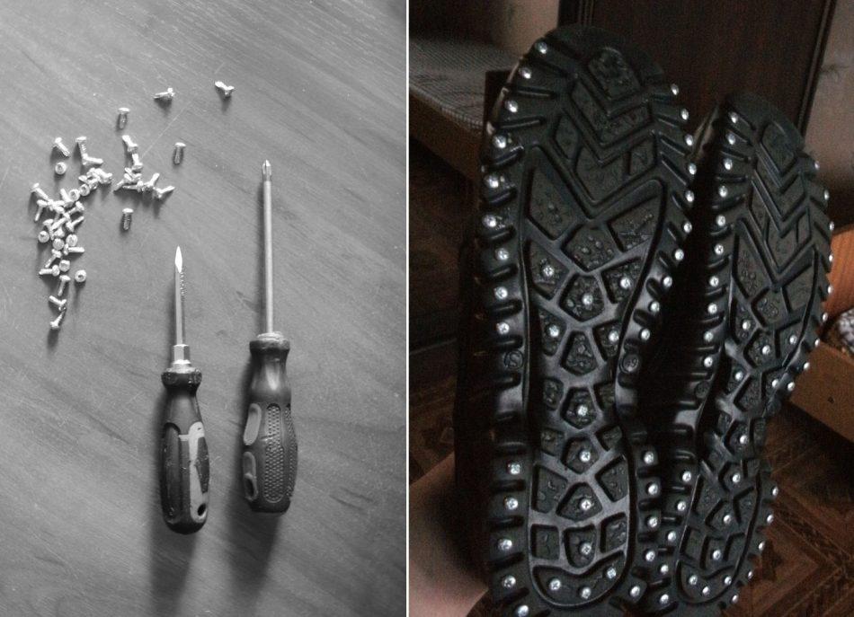 Шурупы, чтобы обувь не скользила
