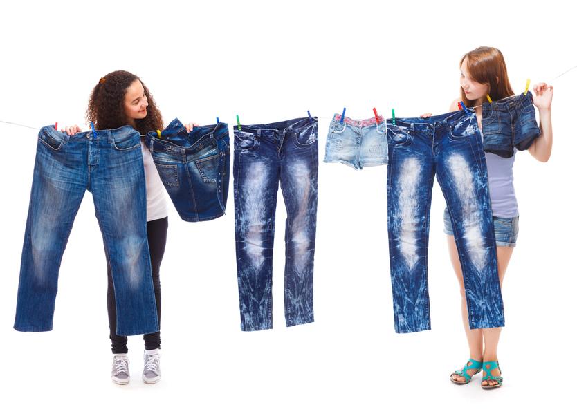 Покраска джинсов