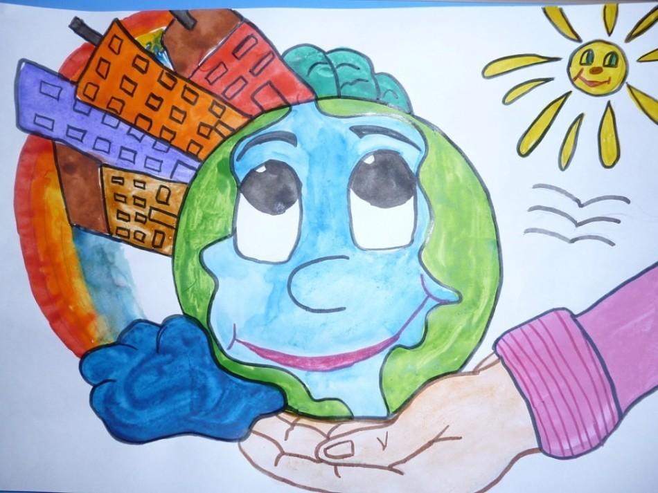 Зеленая планета глазами ребенка картинки