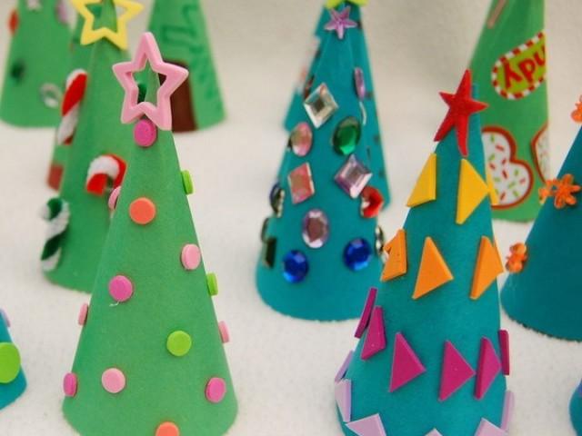 Новогодняя елка из картона своими руками фото 483