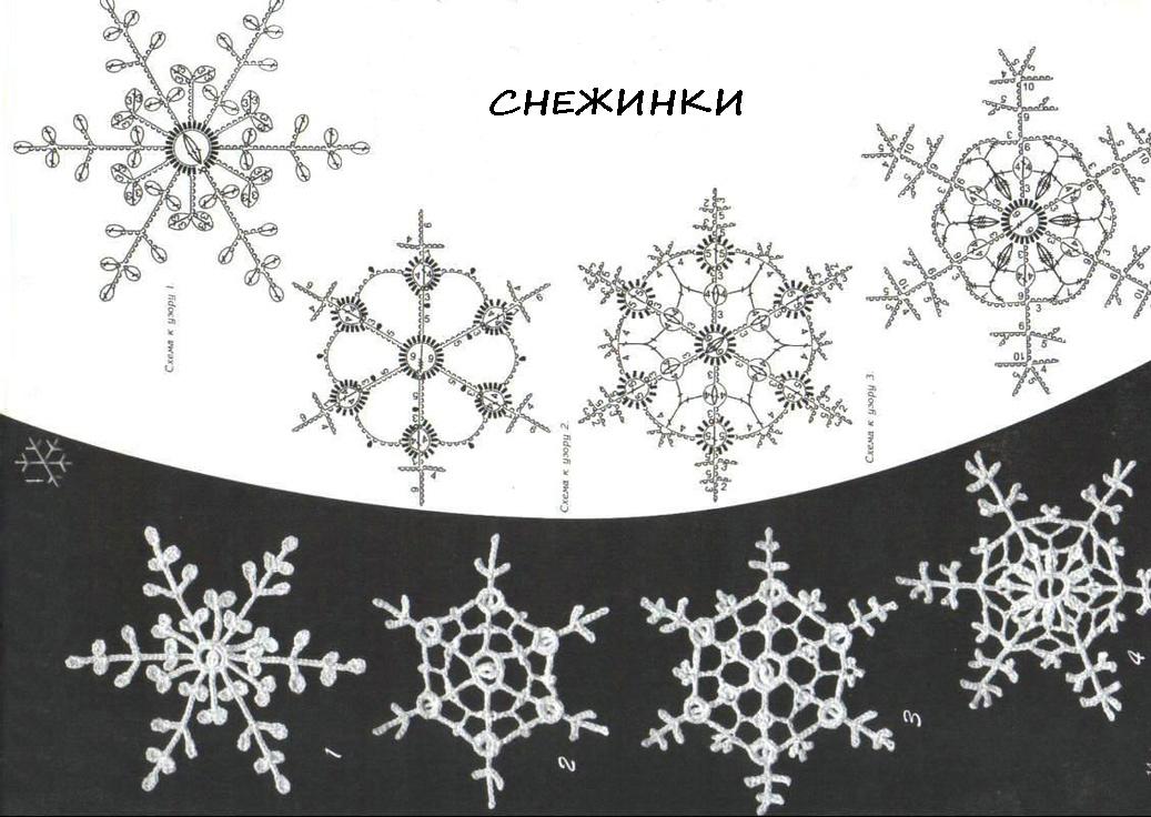 85902d4ee6dc51319c9968e2f6b6a119 Как связать снежинку крючком (видео мастер-класс)