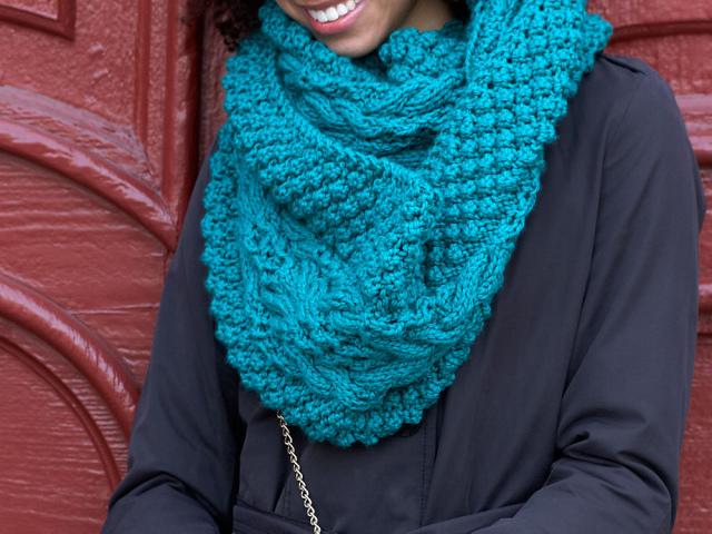 красивый шарф снуд для девочки и мальчика крючком схема вязания с