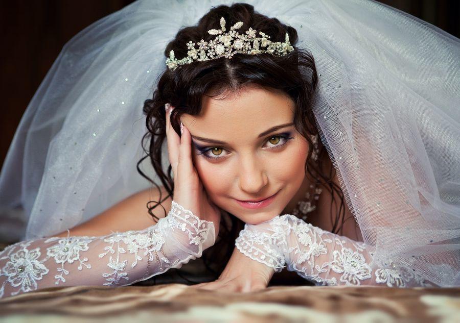 Красивый макияж для невесты с карими глазами