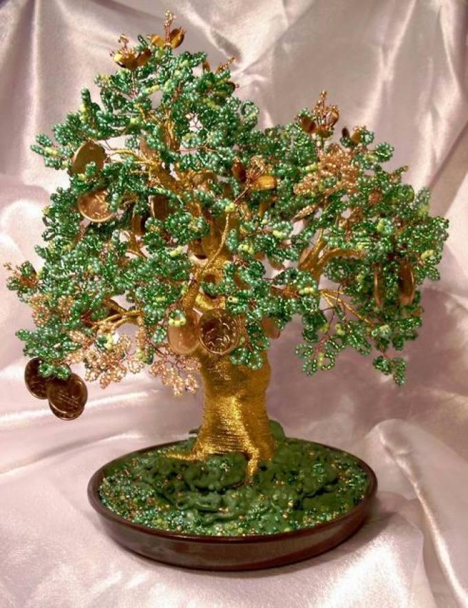 86b5b25e2172bcd4c239a2340b863e55 Денежное дерево своими руками из бисера и монет (видео)