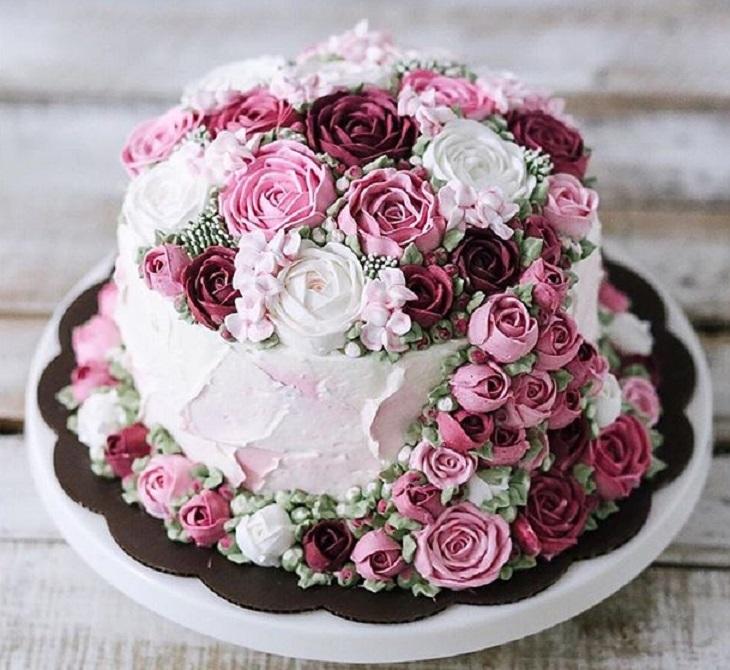 Торт фото с розами