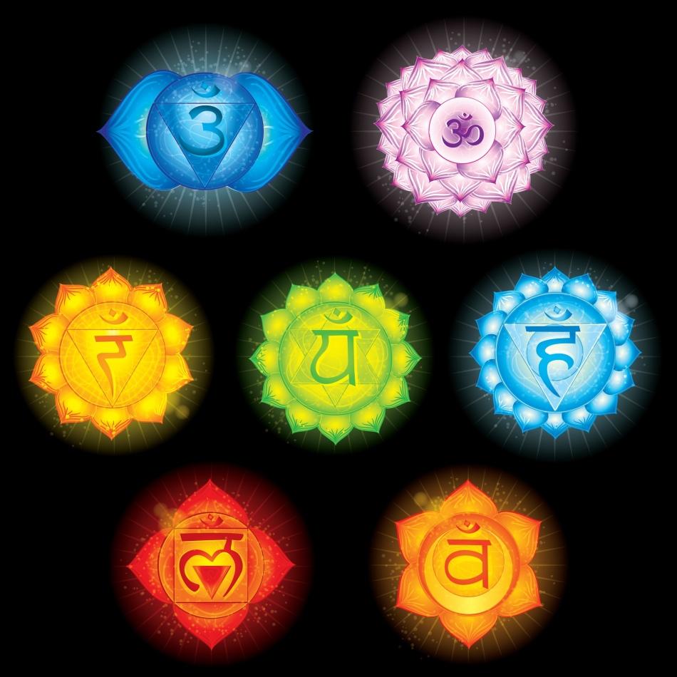 Значки чакр человека и их цвет