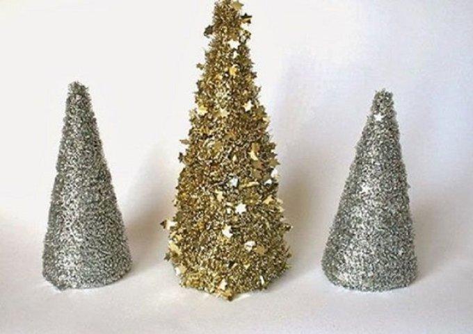 elochka-iz-mishuri Необычная елка своими руками для конкурса для детей в детский сад, школу и для взрослых, на корпоратив: идеи, схемы, описание, фото. Как креативно сделать и назвать поделку — новогоднюю елку на конкурс: идеи, схемы, шаблоны, примеры названий, фото || Необычная новогодняя елка из дерева