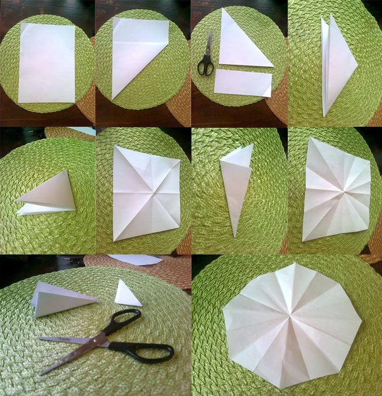 shema-slozheniya-bumagi-pered-virezaniem-snezhinki Как вырезать красивые снежинки из бумаги своими руками поэтапно? Как сделать объёмную снежинку оригами?