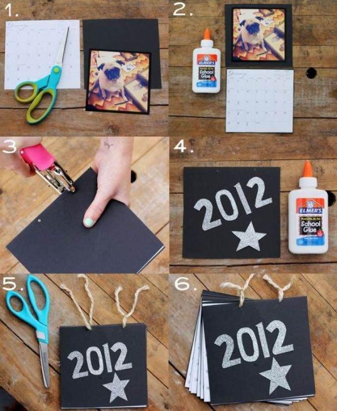 po-takomu-principu-sozdaetsya-kalendar-iz-foto-i-kartona Календарь своими руками - 80 фото, шаблоны и идеи оформления как сделать красивый календарь