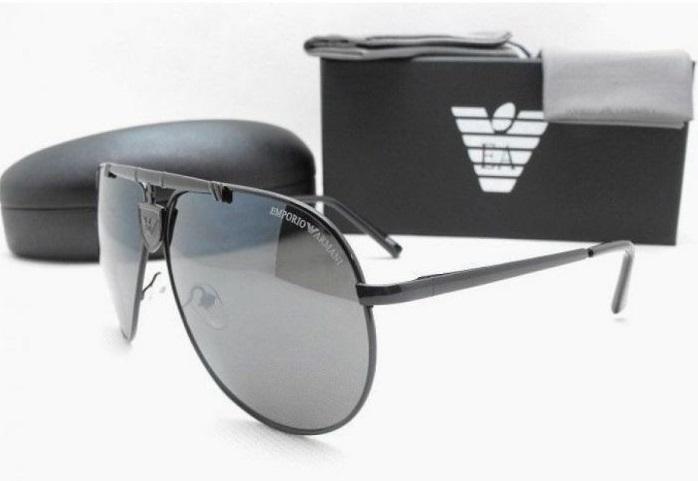 Черные мужские солнцезащитные очки emporio armani