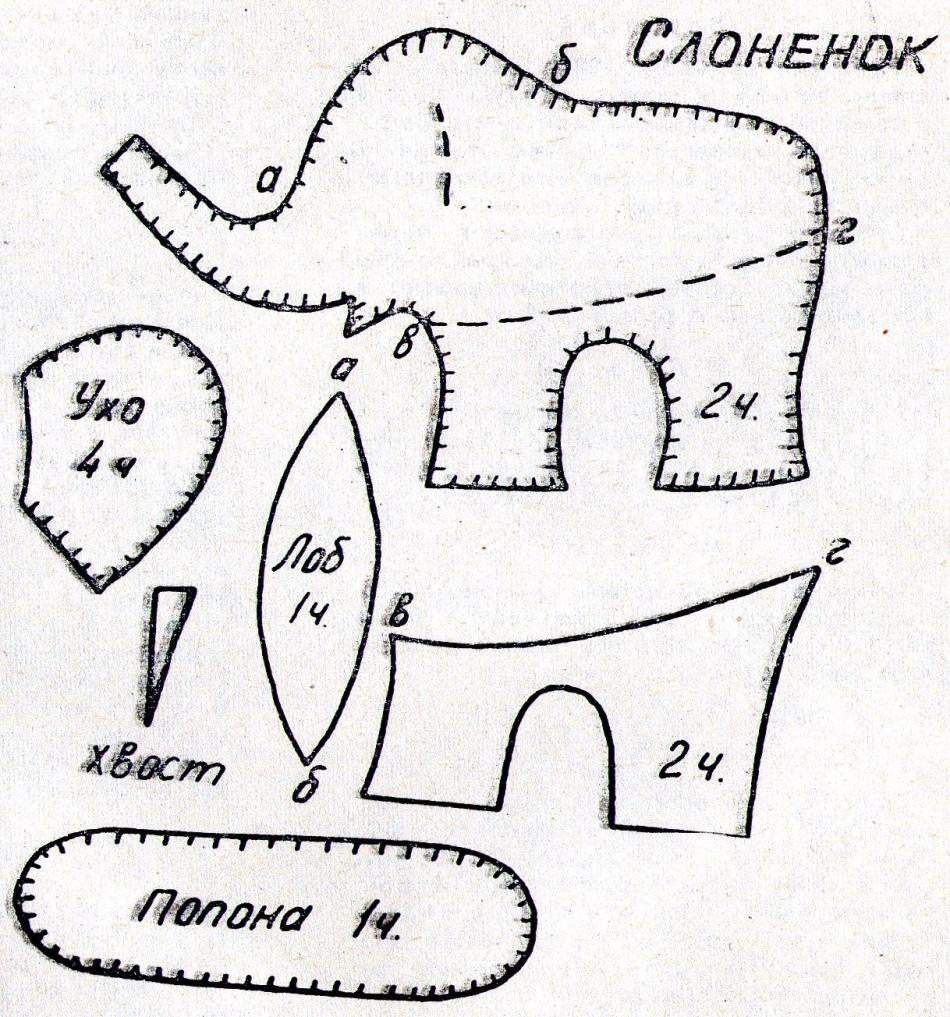 prostaya-vikroika-slonenka Как сшить игрушку мишку своими руками MiR Handmade
