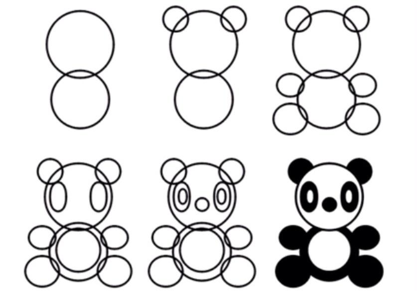 Как нарисовать панду карандашом поэтапно для начинающих? Как ...
