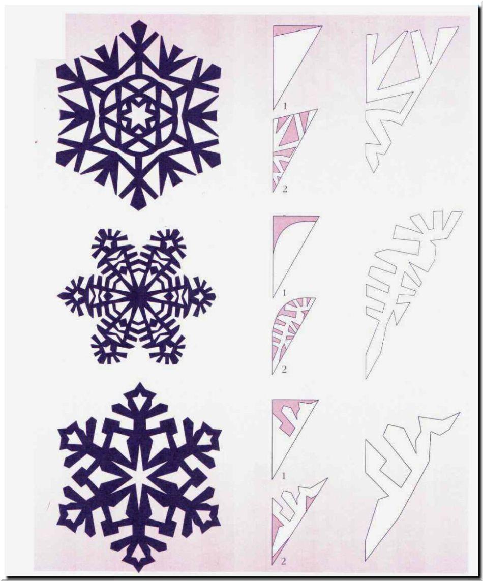 gotovaya-snezhinka-i-shema-risunka-dlya-ee-virezaniya-variant-4 Как вырезать красивые снежинки из бумаги своими руками поэтапно? Как сделать объёмную снежинку оригами?
