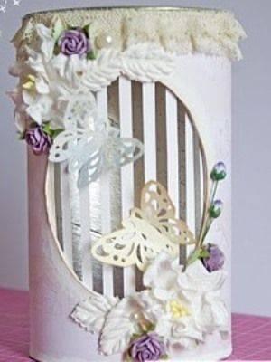 Баночка-ночник декорируется так, как душе угодно