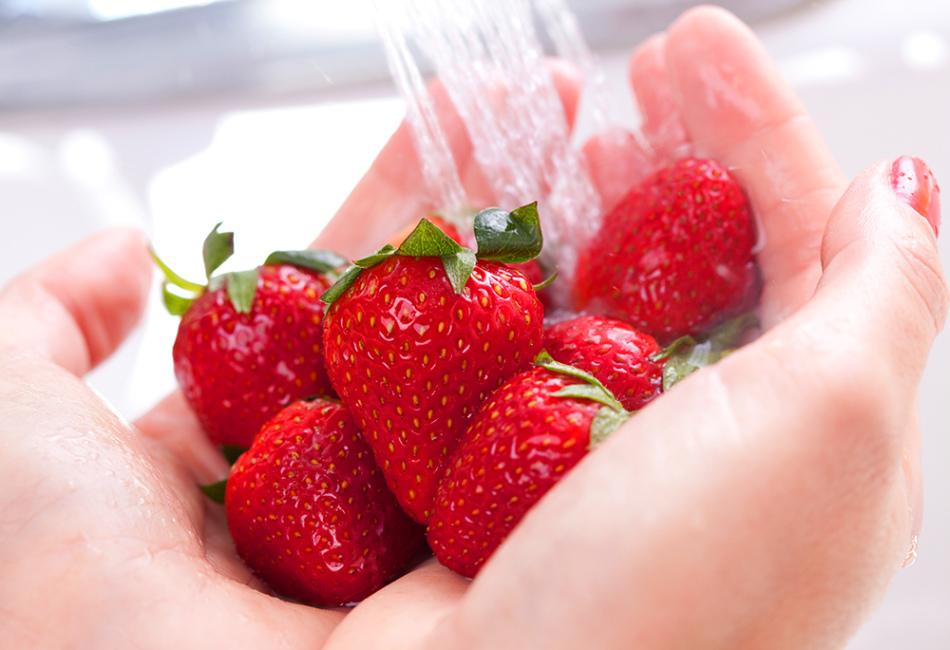 Чтобы не заразиться лямблиозом, следует тщательно мыть фрукты и овощи