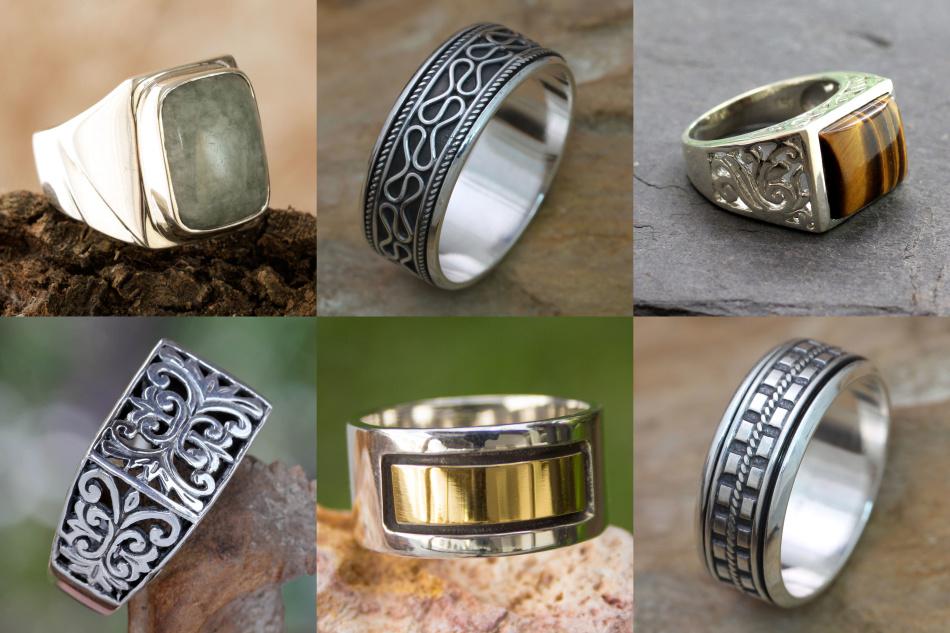 Перстни для мужчин из серебра и золота