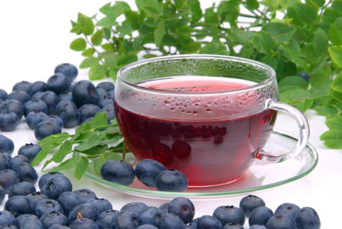 Чай из ягод черники