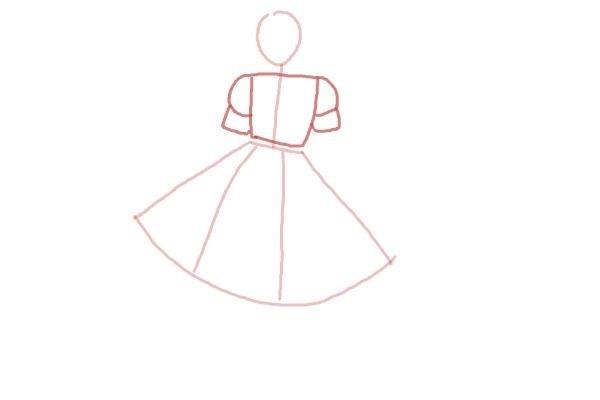 prostoi-risunok-zhenshini-v-odezhde-shag-3 Как рисовать ноги человека? Подробно рассмотрим строение и технику рисования