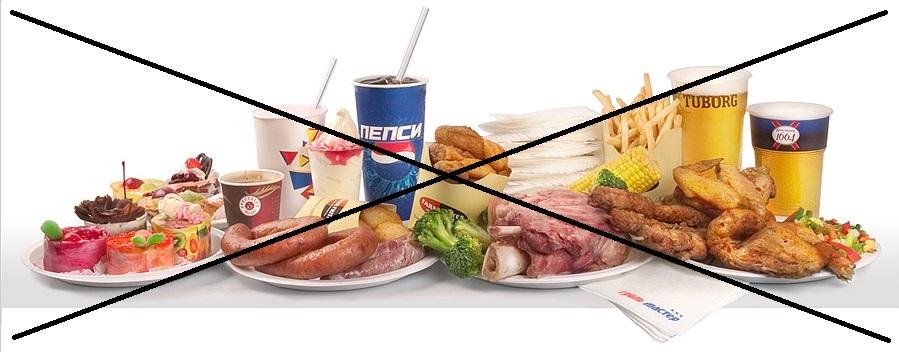 При холецистите колбасы, копчености, фаст фуд, газировка и прочие {amp}quot;вредности{amp}quot; запрещены.