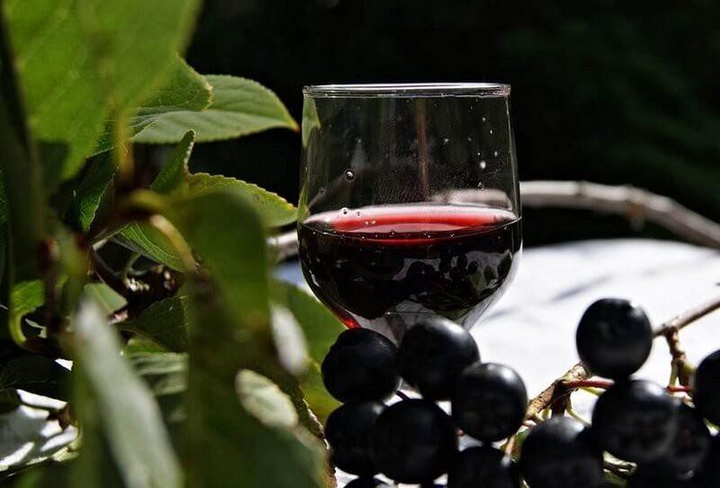 Вино из черноплодки всегда будет уместно на праздничном столе