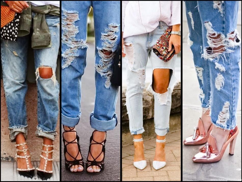 modnie-dzhinsi-s-dirkami-na-kolenyah Как сделать красивые дырки и эффект потертости на джинсах своими руками: фото и видео уроки как можно красиво порвать джинсы в домашних условиях поэтапно и из обычных джинс сделать модные рваные