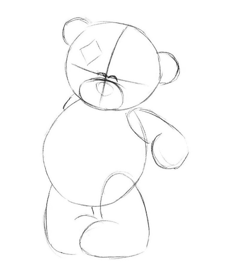 Картинка мишки нарисовать легко